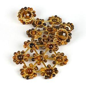 Lisi Lerch Jewelry - Lisi Lerch Vivi Tiger Eye Earrings | CLIP ON